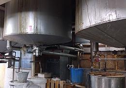 石鹸の製造機械の様子