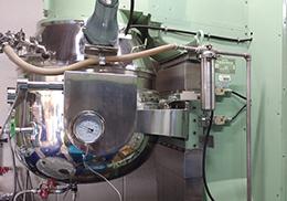 シャンプー・コンディショナーの製造機械の様子